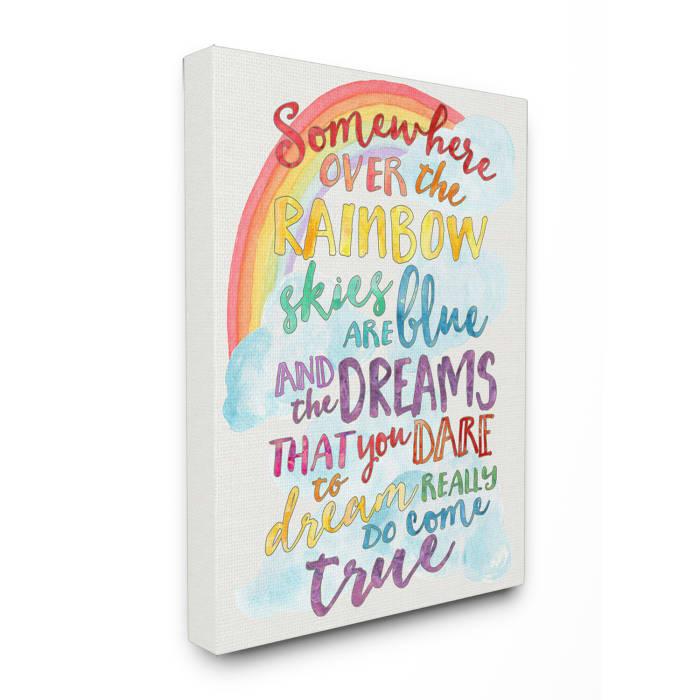 Dreams Come True Rainbow Canvas Wall Art