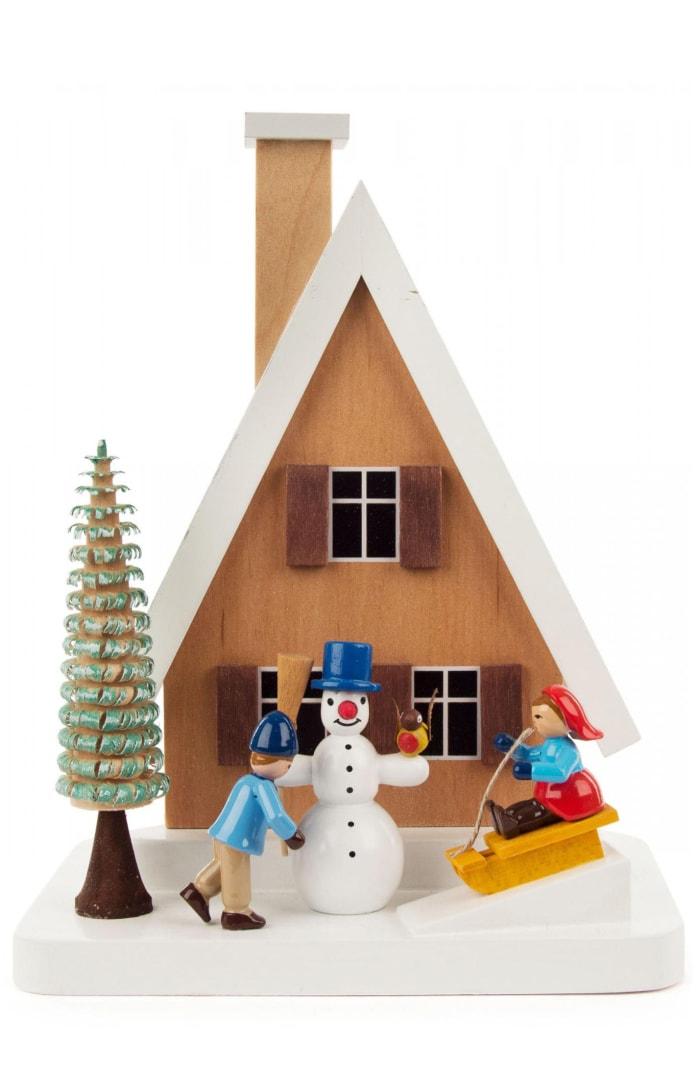 Richard Glaesser Incense Burner - Smokehouse With Snowman