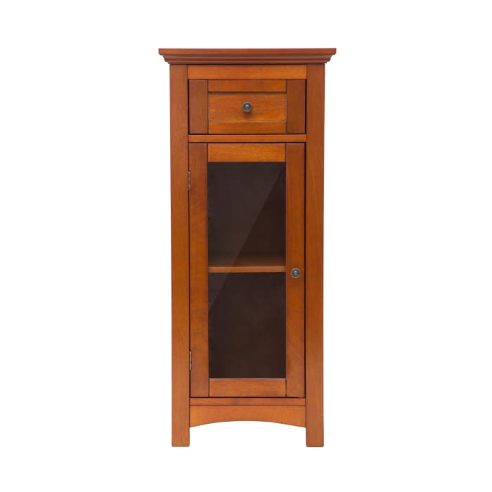 Mahogany Brown 1-Drawer & 1-Door Storage Cabinet