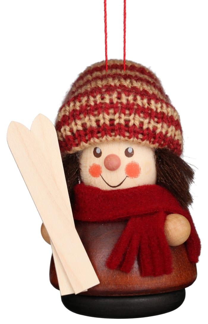 Christian Ulbricht Ornament - Skier (Natural)