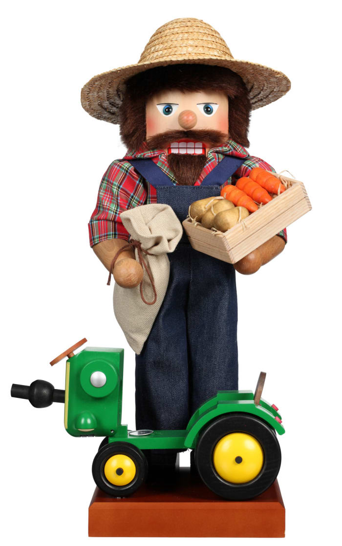 Christian Ulbricht Nutcracker -  Farmer With Tractor