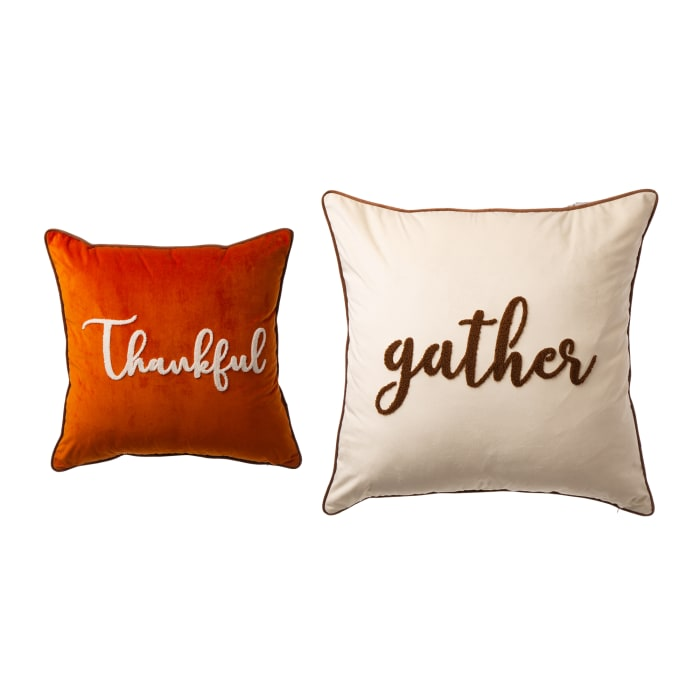Velvet with Word Pillow Cover Set of 2