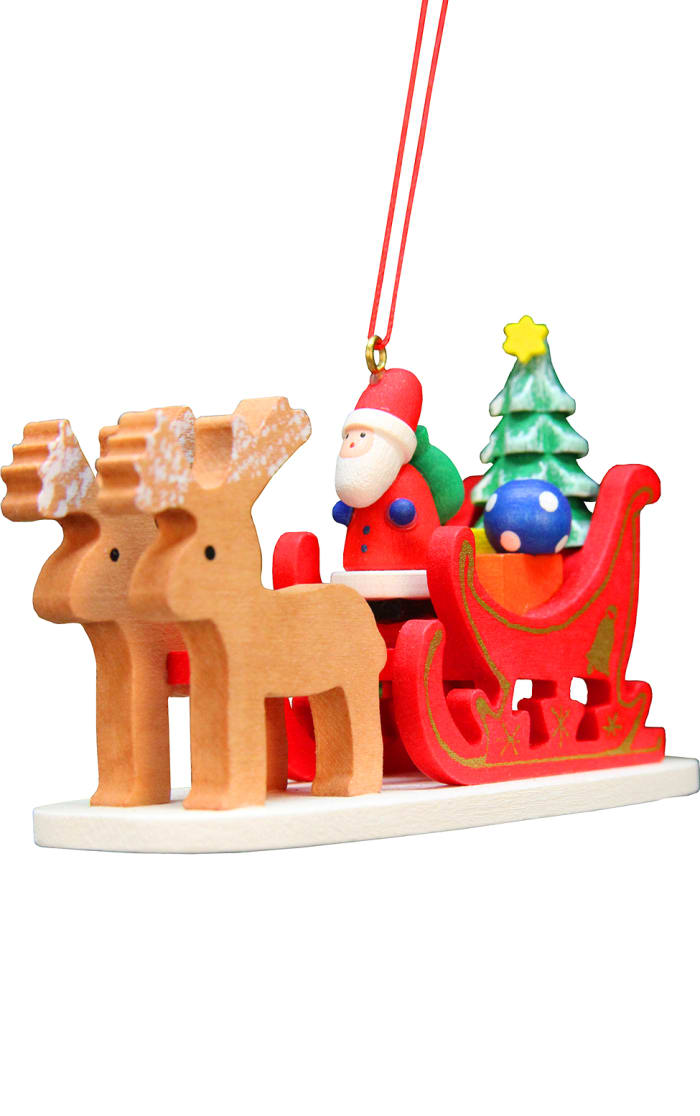 Christian Ulbricht Ornament - Santa Claus Sled