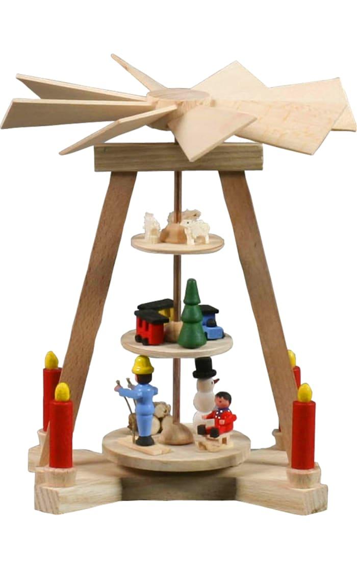 Mini Pyramid - Winter Scene - 3-tiers