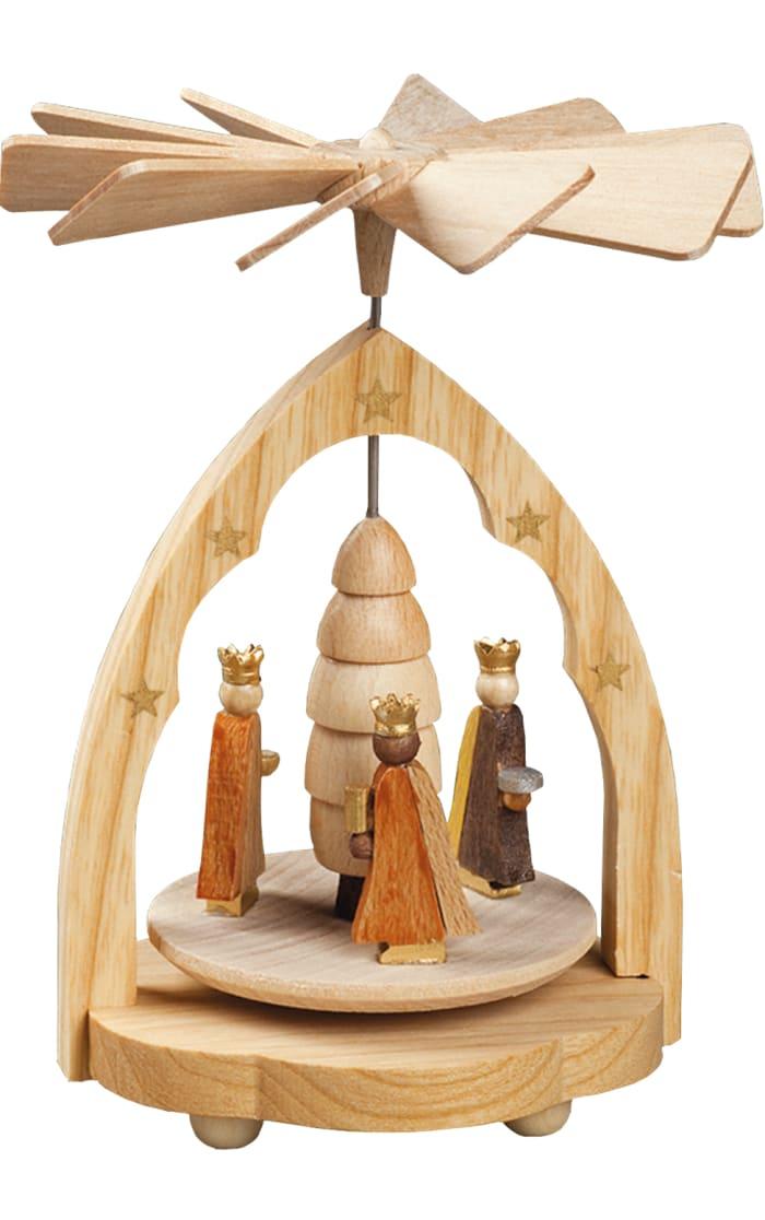 Richard Glaesser Mini Pyramid - 3 Kings Natural wood