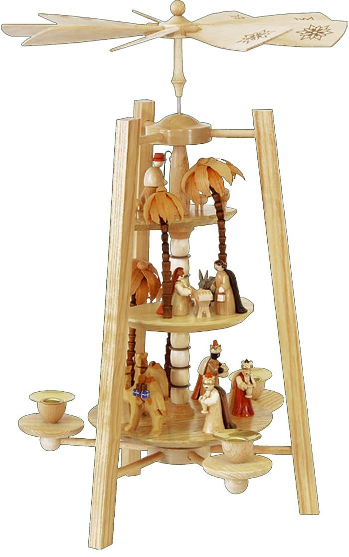 Richard Glaesser Pyramid - 3 tiers - Nativity