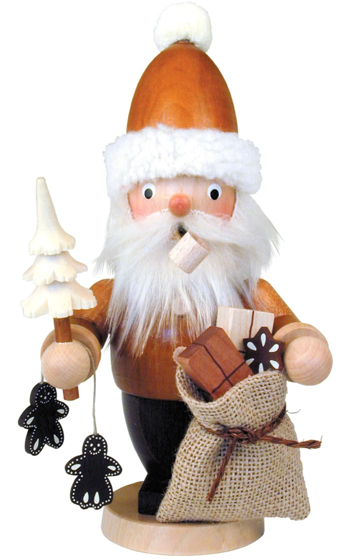 Christian Ulbricht Incense Burner - Santa with Sack and Ginger Bread Cookies (Natural)