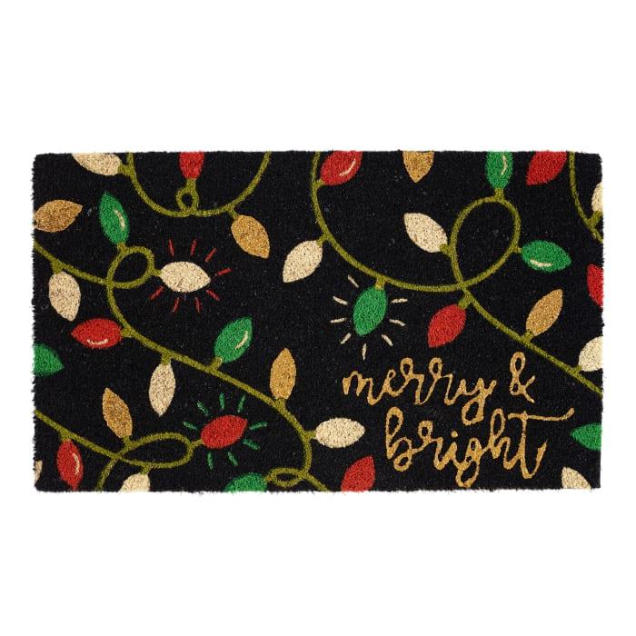 Merry and Bright Lights Doormat