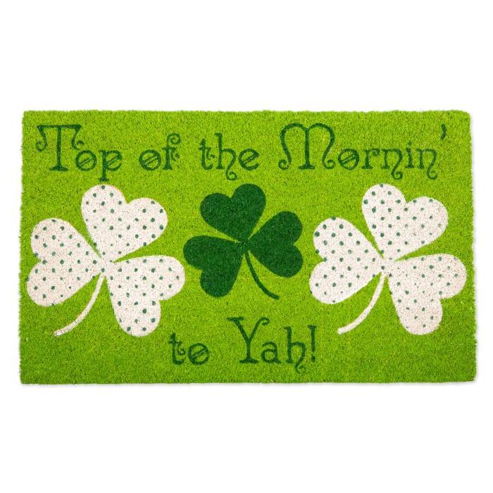 Top Of The Mornin To Yah! Doormat