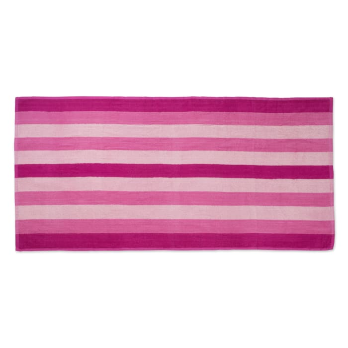 J&M Cabana Pink Stripe Beach Towel