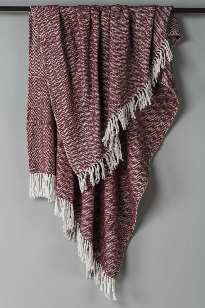Red/Natural 100% Cotton Herringbone 50