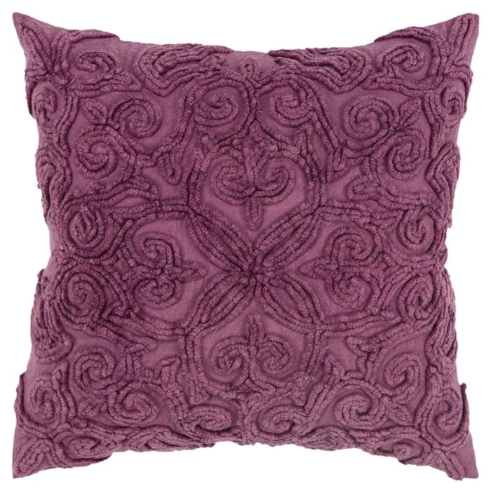 Solid Patterned Purple Pillow