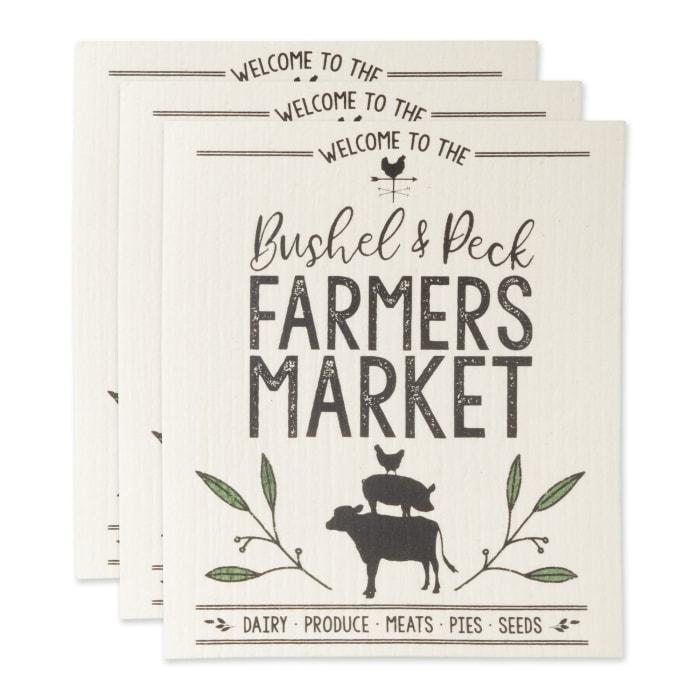 Farmers Market Swedish Dishcloth Set/3