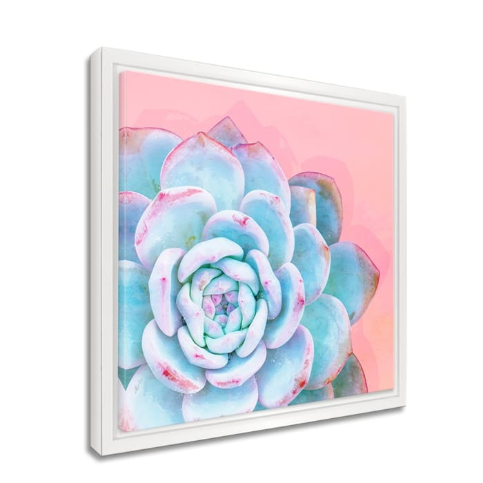 Bright-eyed Framed Succulent Canvas Wall Art