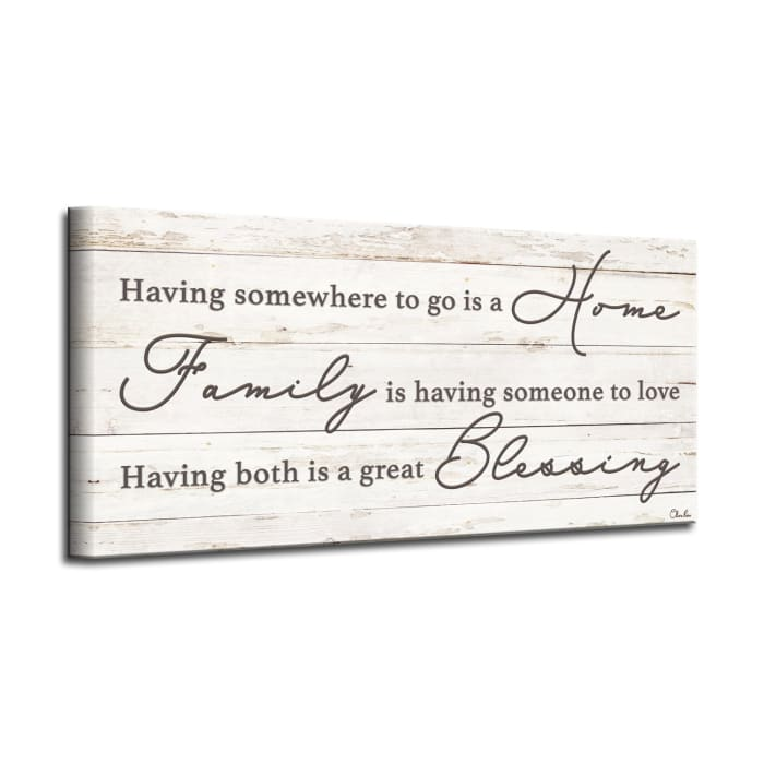 Blessings Beige Canvas Wall Art