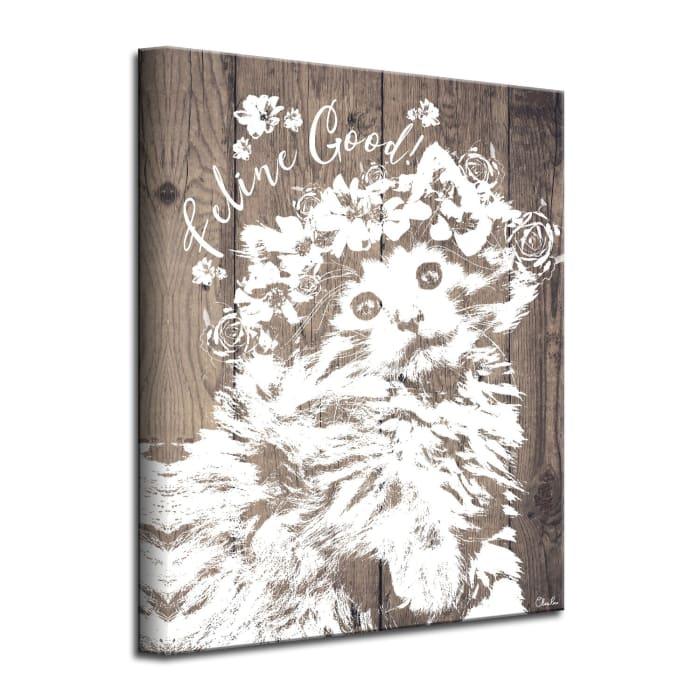 Feline Brown Canvas Pet Wall Art