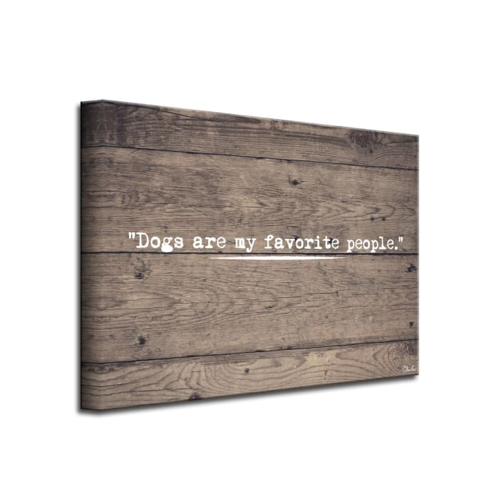 My Favorite Brown Canvas Pet Wall Art