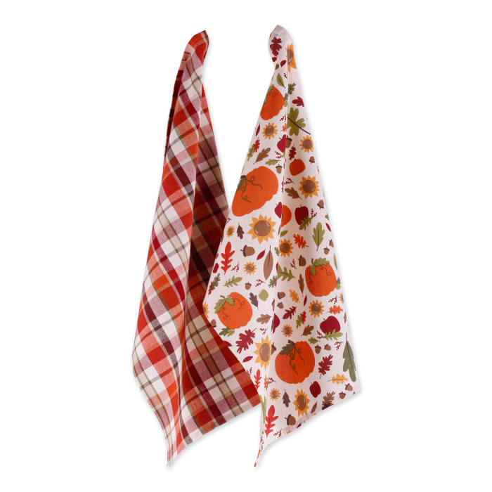 Assorted Pumpkin Harvest Printed Dishtowel (Set of 2)