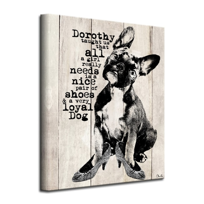 Dorothy Taught Us Beige Canvas Pet Wall Art