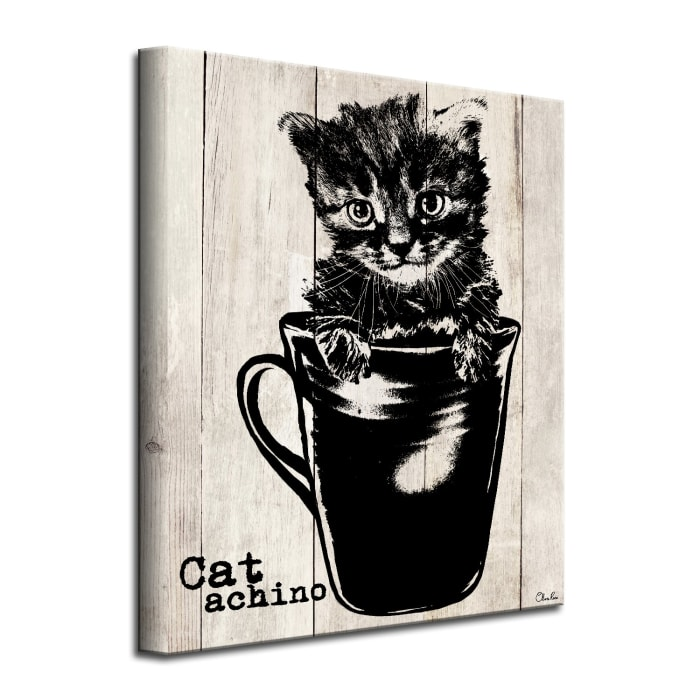 Kitty Cappuccino Beige Canvas Pet Wall Art