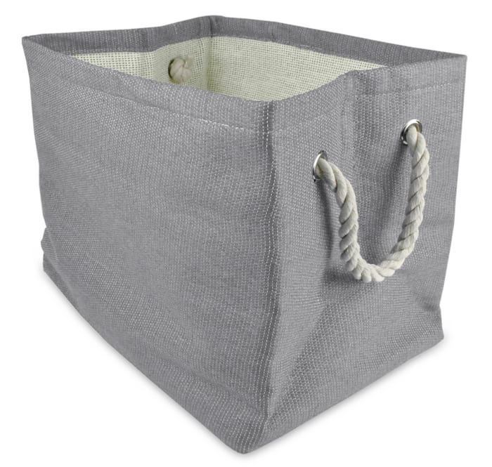 Paper Bin Solid Gray Rectangle Medium 15x10x12