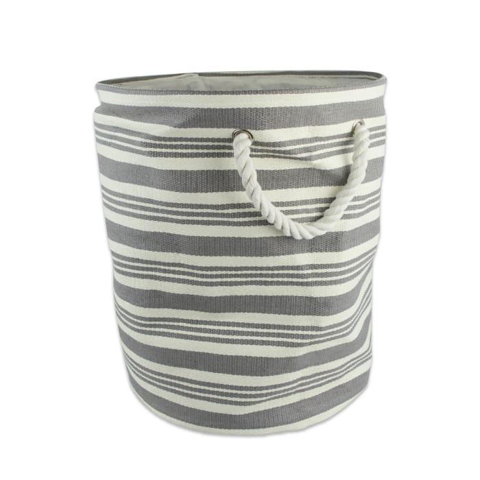 Paper Bin Urban Stripe Gray Round Large 20x15x15
