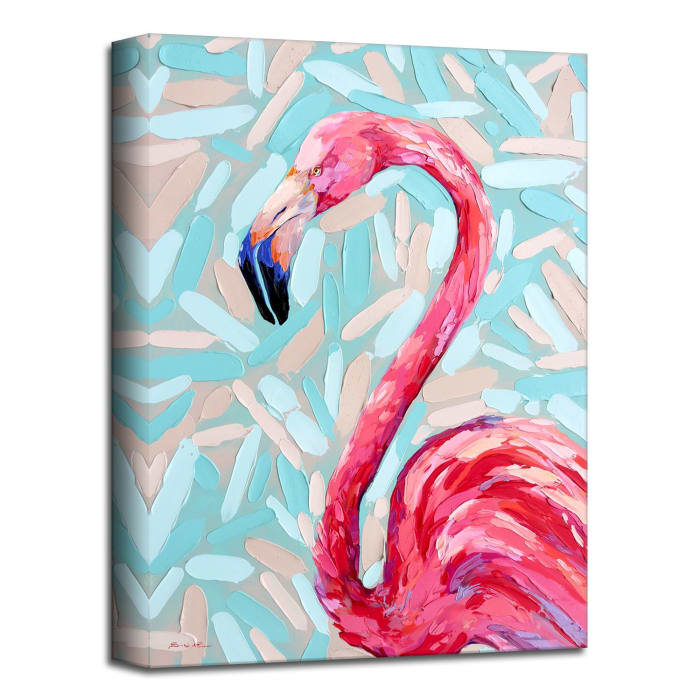 Coastal Seabird II Pink Canvas Wall Art