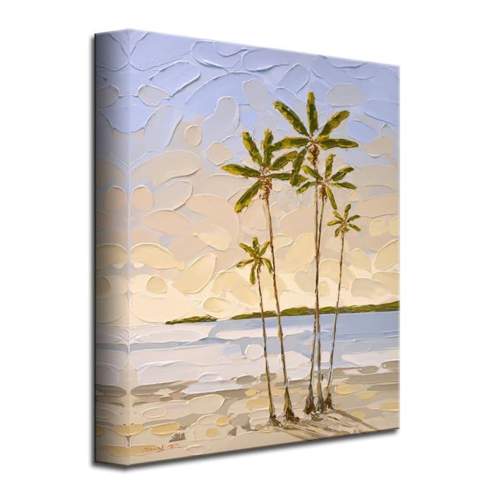 Sunset Palms Purple Canvas Wall Art