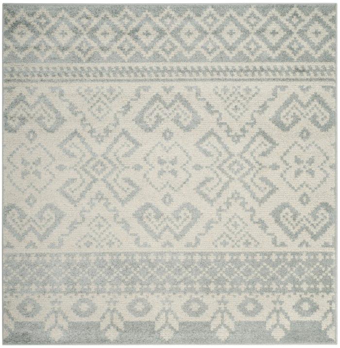 Square Gray Rug  6' x 6'