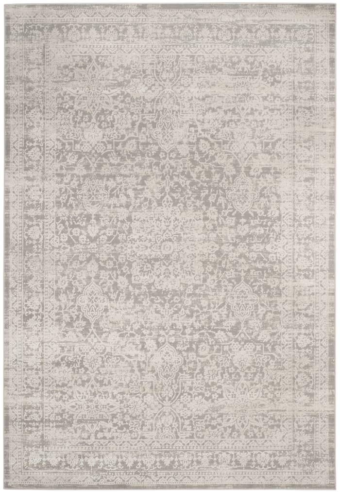 Gray Polyester Rug 9' x 12'
