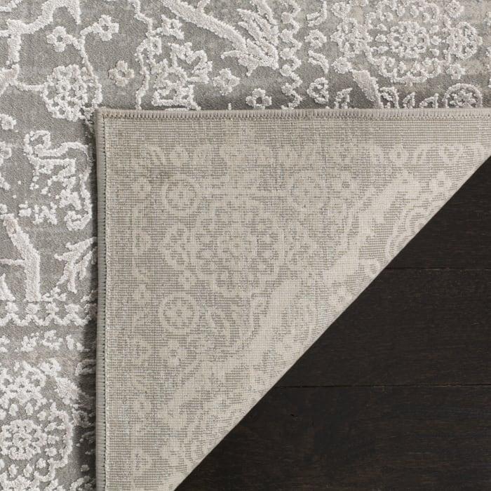 Gray Polyester Rug  2.5' x 9'