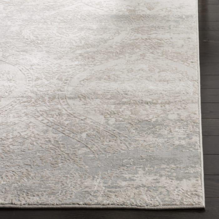 Gray Polyester Rug  2' x 3'
