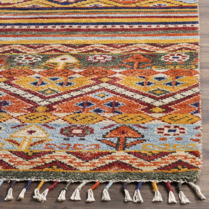 Multicolored Wool Rug 9' x 12'