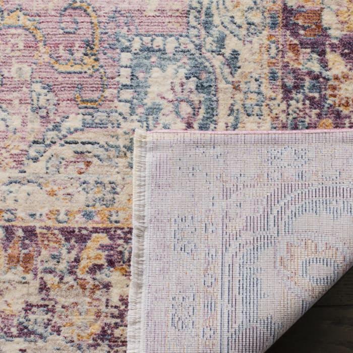 Purple Viscose Rug 6' x 9'
