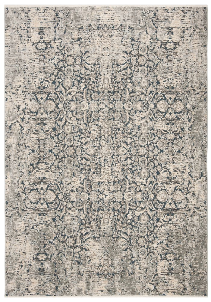 Blue Polyester Rug 4' x 6'