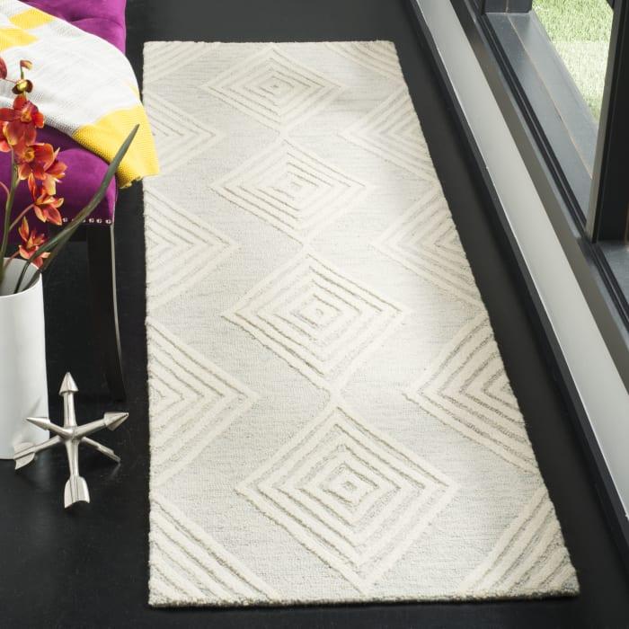 Silver Wool Rug 2.5' x 9'