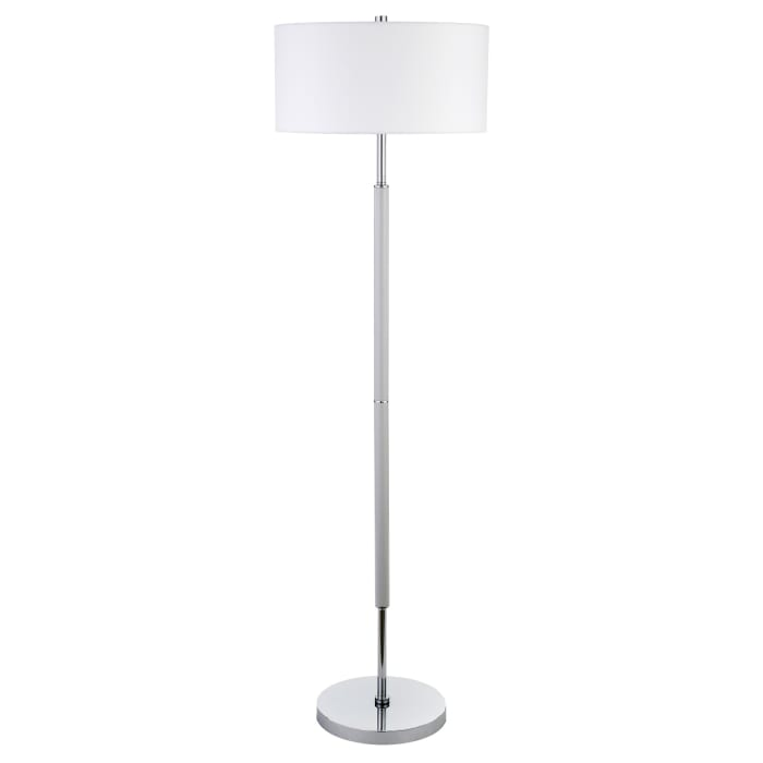 Floor Lamp Cool Gray and Nickel