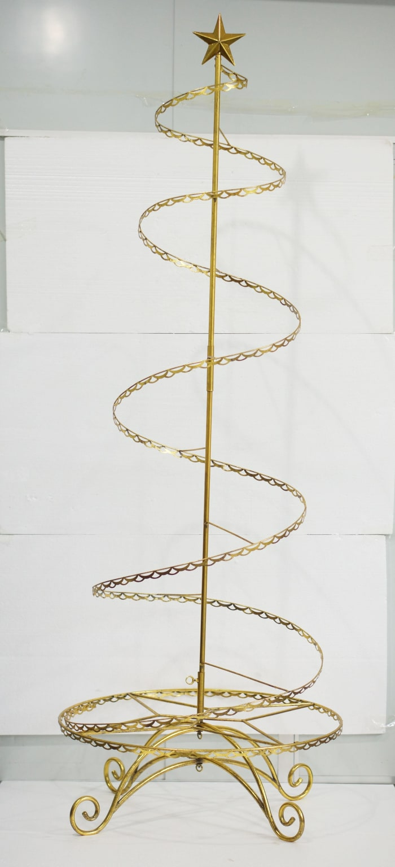 Gold Spiral Wire Ornament Tree