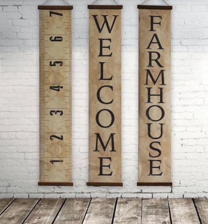 Decorative Canvas Farmhouse Banner