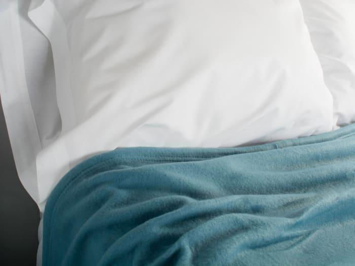 J&M Copen Blue Fleece Blanket Full/Queen 90x90