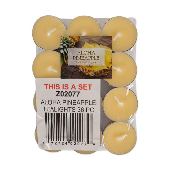 36 Piece Set Aloha Pineapple Tealight Candles