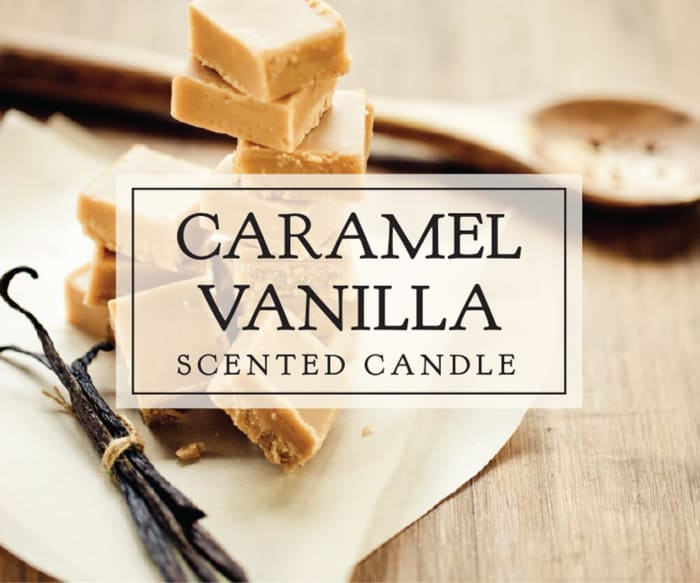 Carmel Vanilla Single Wick Candle (Set of 2)