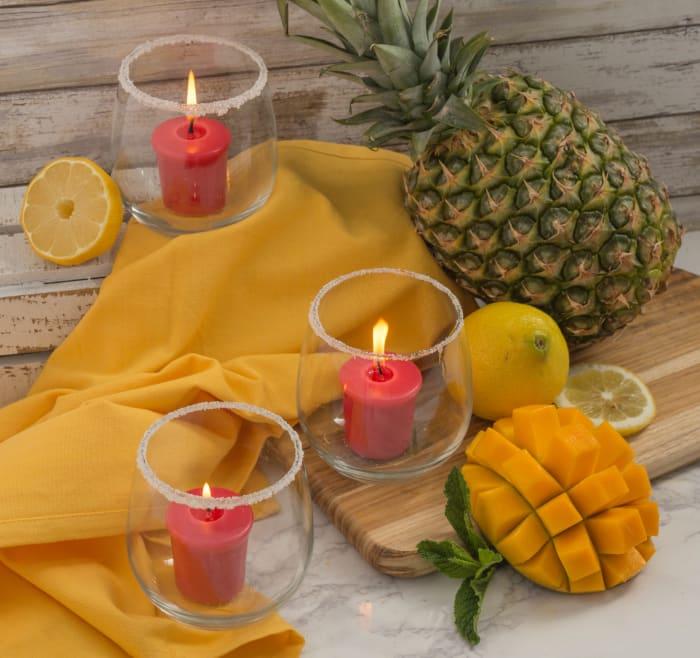 Fresh Fruit Sorbet Votives 8 Pc