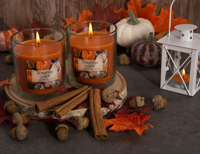 Pumpkin Spice Single Wick Candle (Set of 2)