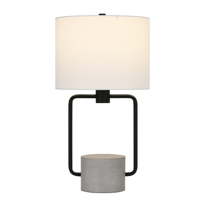 Table Lamp in Concrete and Blackened Bronze
