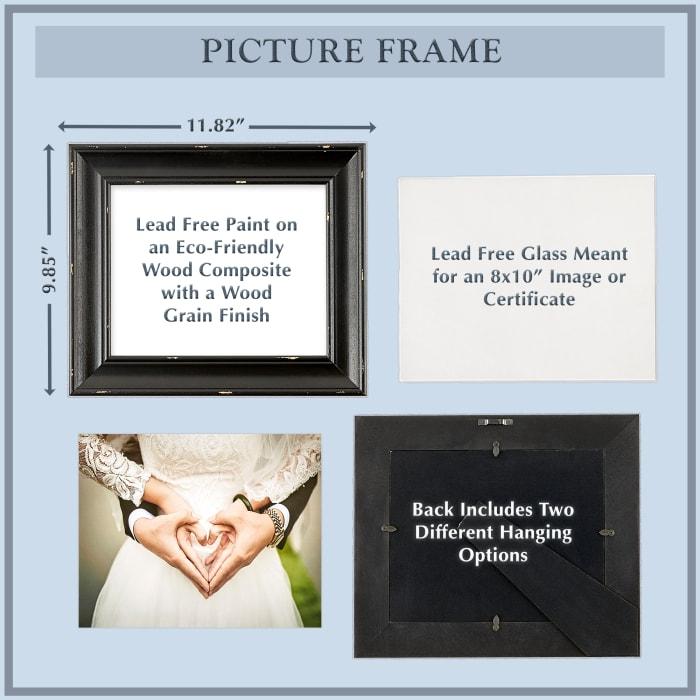 8x10 Distressed Antique White Farmhouse Picture Frame
