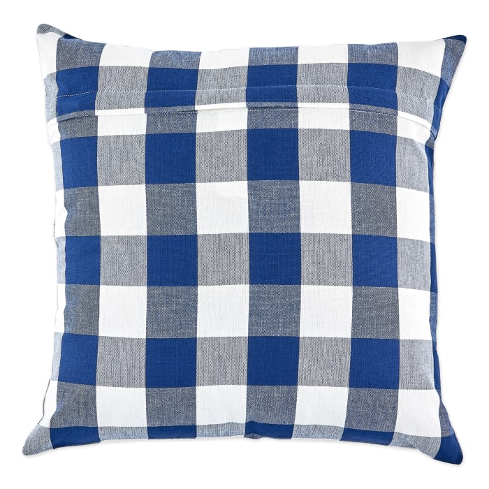 Blue Buffalo Check Pillow Cover Set of 4