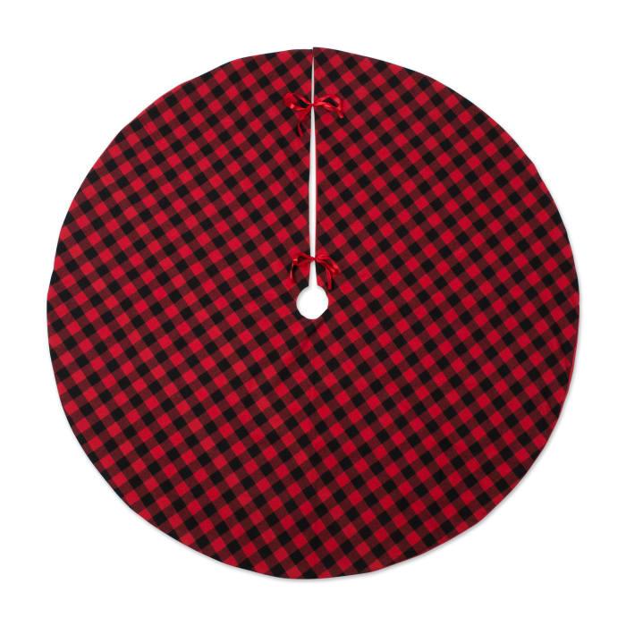 Holiday Tree Skirt Red And Black Buffalo Check