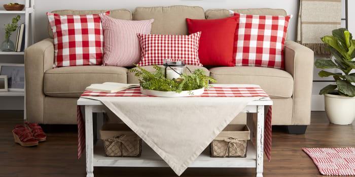 Buffalo Check Red/White Pillow Set of 2