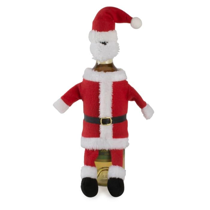 Santa Reindeer & Elf Wine Bottle Covers Outfits Set of 3